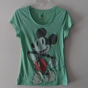 Disney Pale Lime Green Mickey Mouse T-shirt
